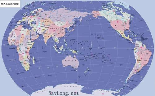 世界地图标记